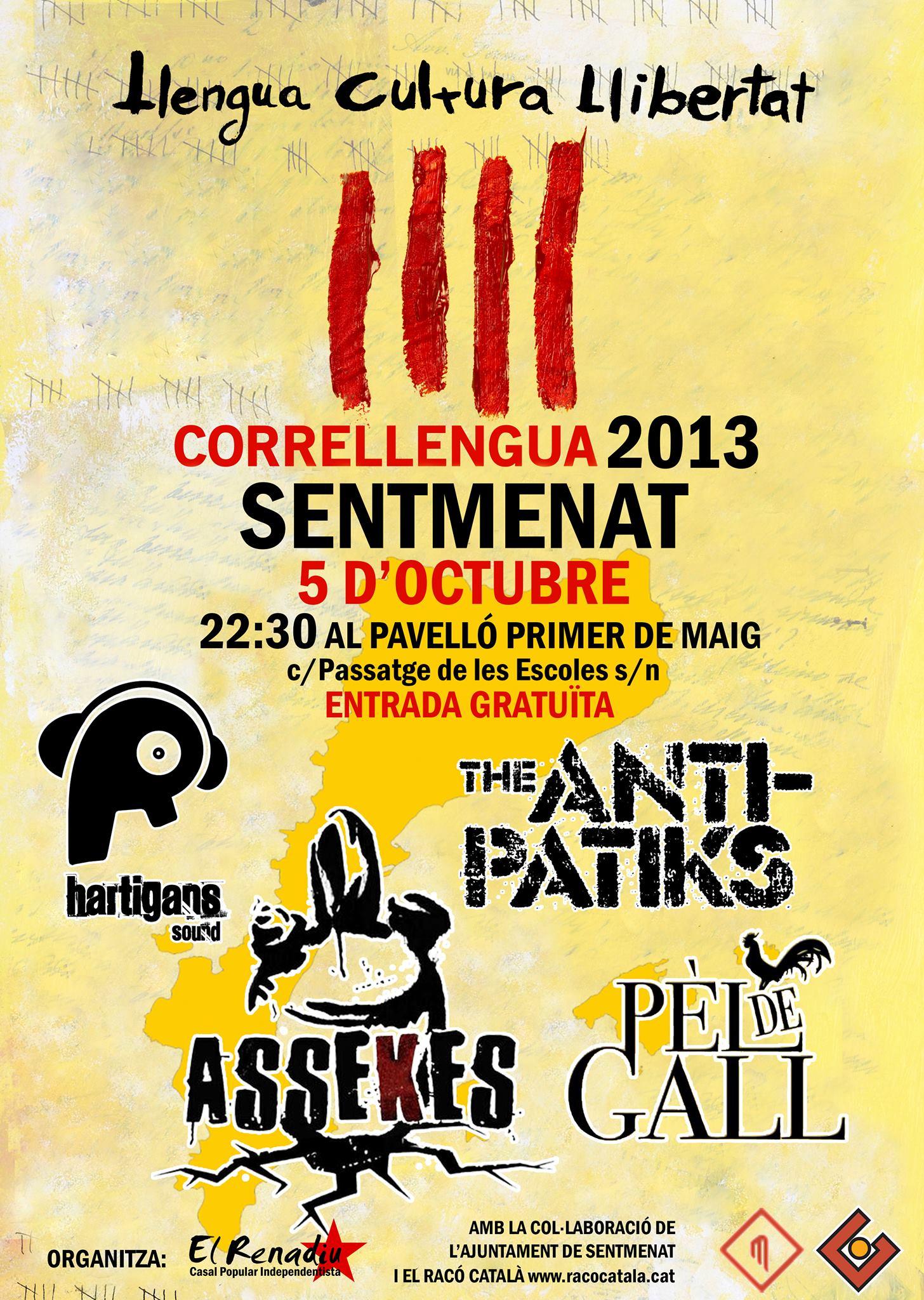 Cartell Concerts Correllengua Sentmenat 2013